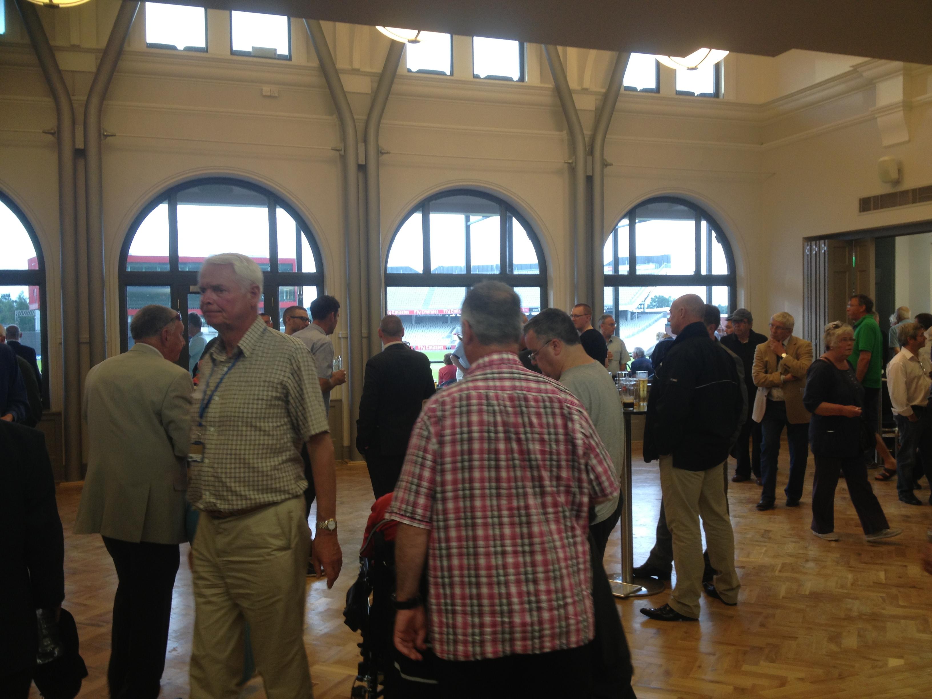 Part conference centre... part railway waiting room, the new pavilion lacks soul