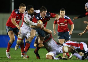 Irish beef: Niall Kenneally busts Plymouth Albion