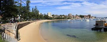 Manly Beach — where great white sharks abound