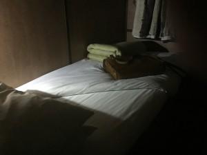 My couchette — comfortable but little sleep