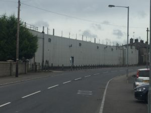 Crossmaglen Police Station all locked up now— it's Ireland Jim, but not as we knew it